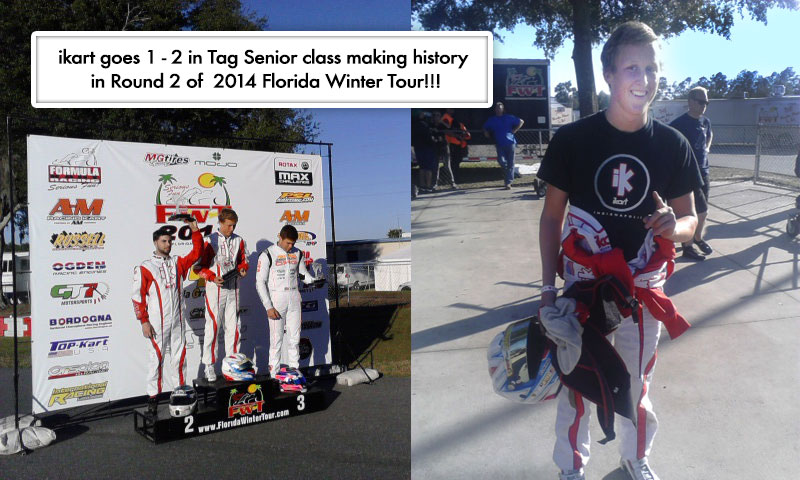 iKart makes history finishing 1 – 2 in Tag Senior at Ocala in the 2014 Florida Winter Tour